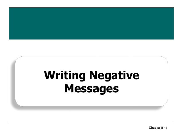 Negative message chapter 8 1 writing negative messages thecheapjerseys Images