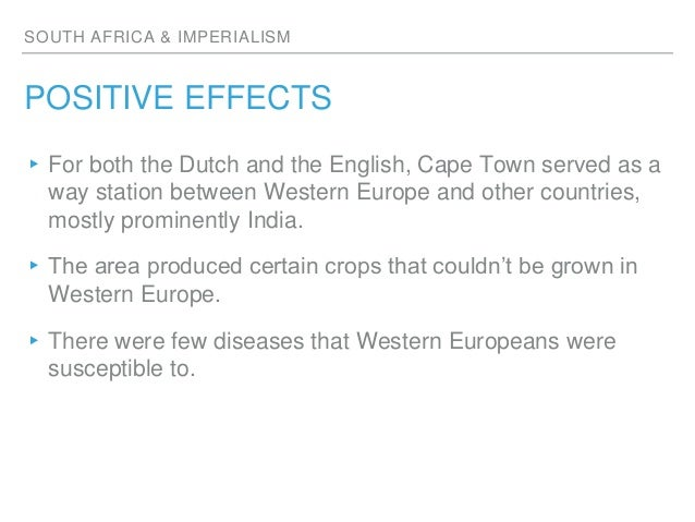 positive and negative effects of imperialism in africa essay