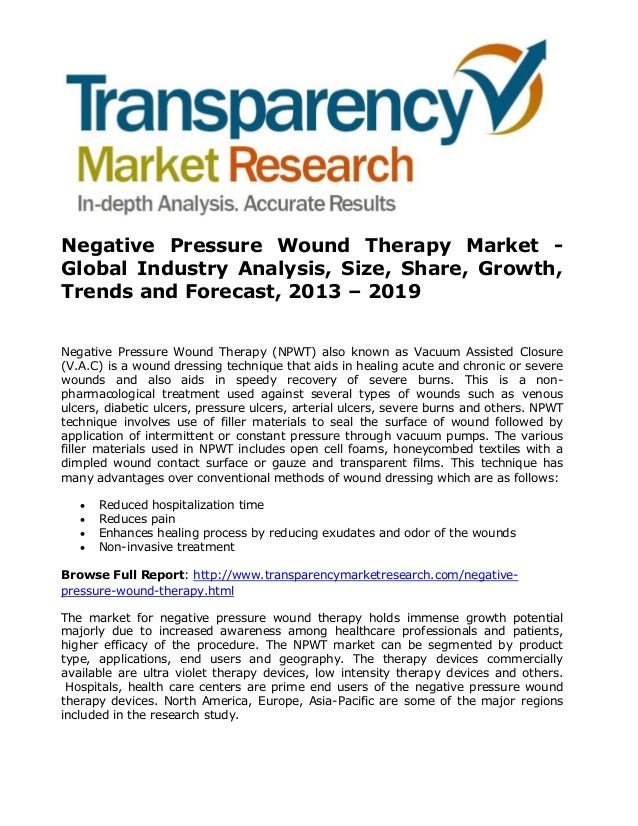 Popular report negative pressure wound therapy market