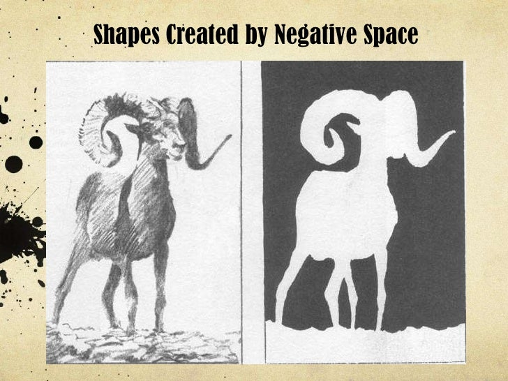 Shapes Created by Negative Space<br />