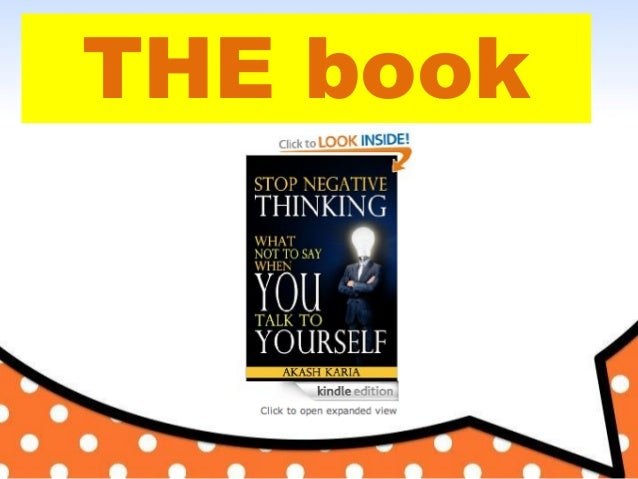 Negative thinking: How to STOP Negative Thinking Book Slide 2