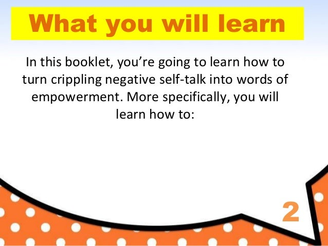 Negative thinking: How to STOP Negative Thinking Book Slide 3