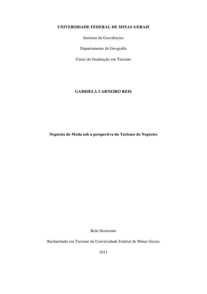 UNIVERSIDADE FEDERAL DE MINAS GERAIS                   Instituto de Geociências                  Departamento de Geografia...