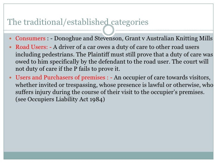 grant v australian knitting mills essay Essay writing guide  the case abouzaid v mothercare (uk) ltd [2000]  (grant v australian knitting mills ltd (1936).