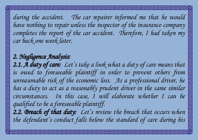 negligence essay  4 during