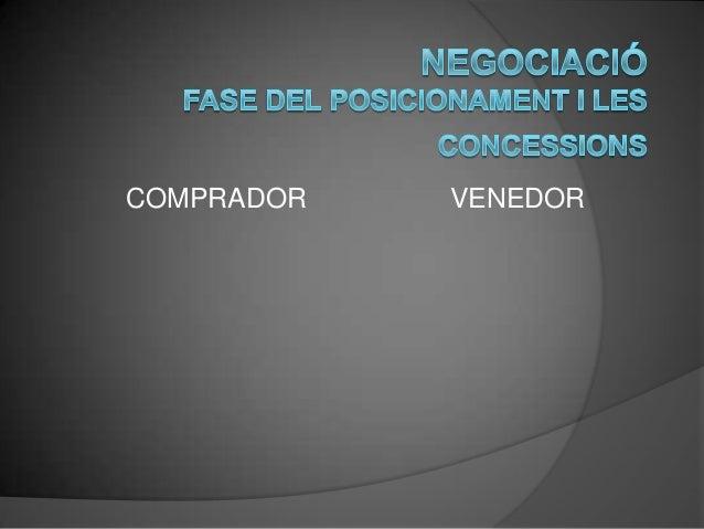 Negociació: El posicionament i les concessions Slide 2