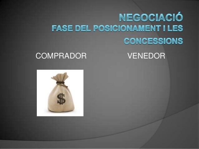 Negociació: El posicionament i les concessions Slide 3