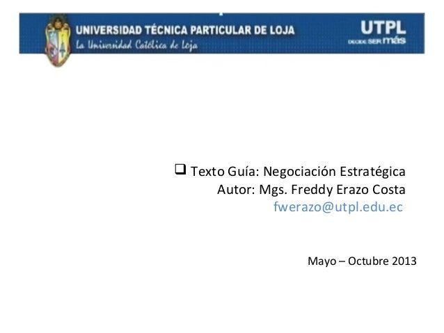 Negociación estratégica Slide 2