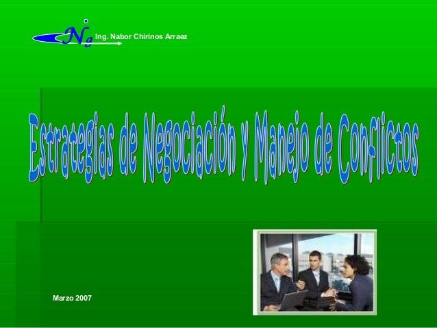Marzo 2007 Ing. Nabor Chirinos Arraez Ng