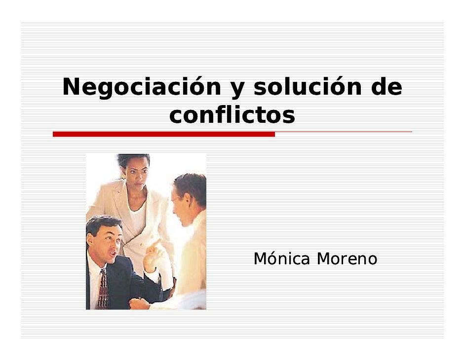 Negociacion y resolucion de conflictos ppt
