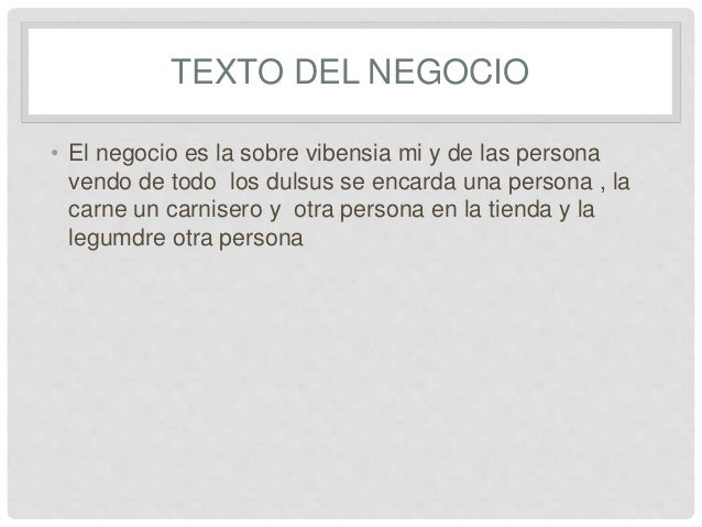 EL NEGOCIO