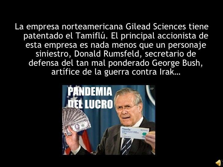 Donald rumsfield tamiflu
