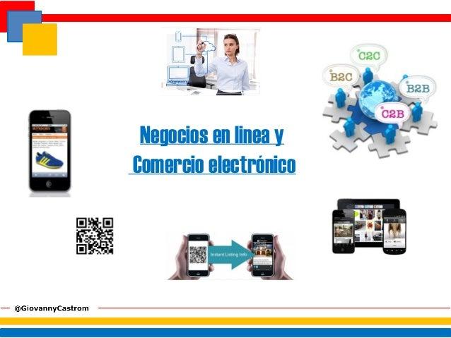 Negocios en linea yComercio electrónico