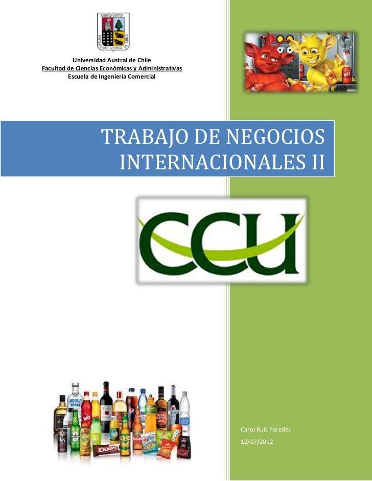 Universidad Austral de ChileFacultad de Ciencias Económicas y Administrativas         Escuela de Ingeniería Comercial     ...