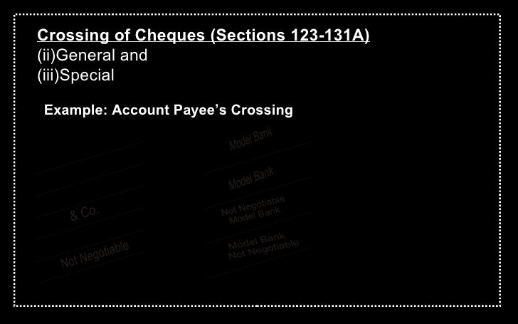 negotiable instruments sections This paper attempts to delineate various aspects of section 138 of the negotiable instruments act section 138 is the principal section dealing with dishonor of cheques.