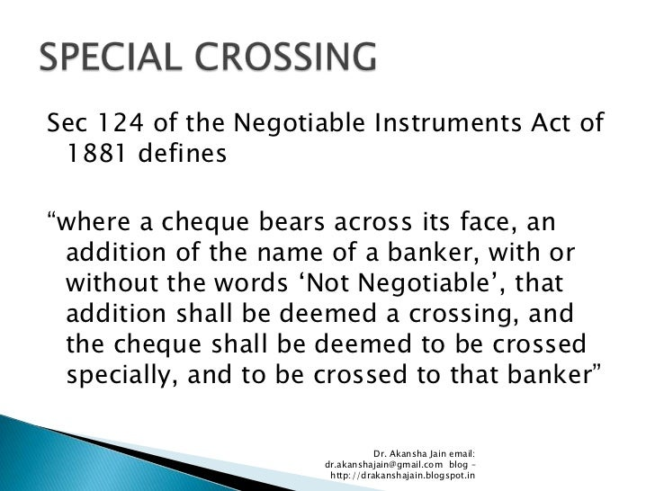 1881 pdf negotiable instruments act