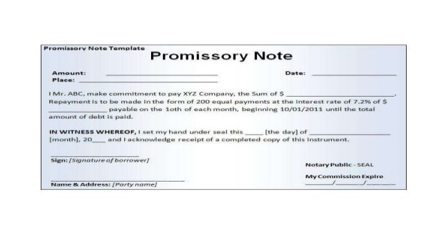 Doc638826 Student Promissory Note Sample Doc638826 Student – Example of Promissory Note