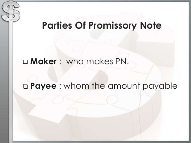 High Quality Parties Of Promissory Note ...