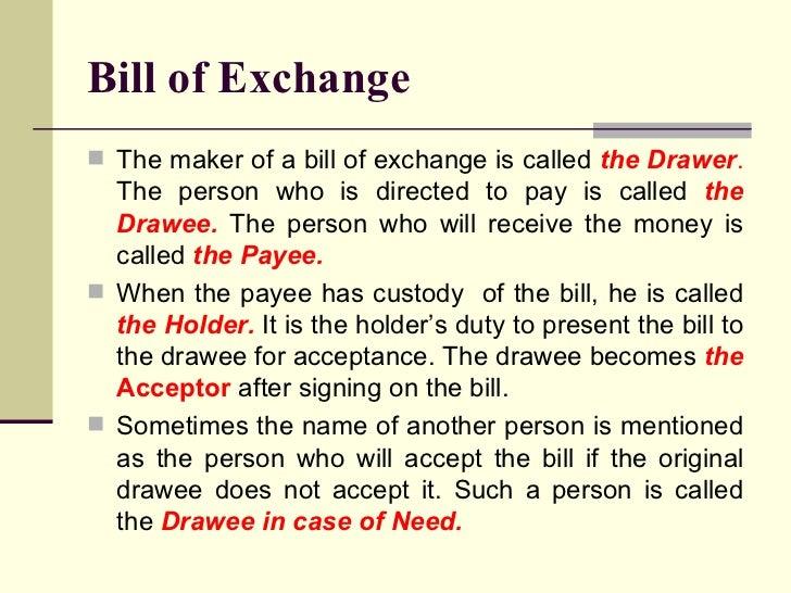bill of exchange act pdf