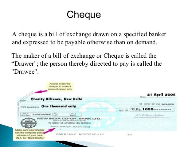 Ef   Drawer The Person Who Makes A Cheque