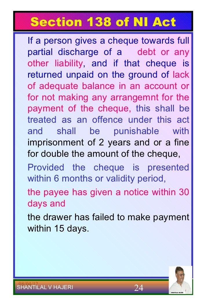 138 ni act अगर आपका चेक बाऊन्स हो गया है तो आगे क्या करे dishonor of cheque चेक बाउन्स होगया है तो ये section 138 negotiable instruments act, 1881 के अंडर criminal o.