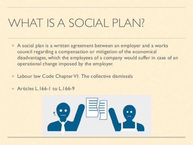 Negotiate A Social Plan