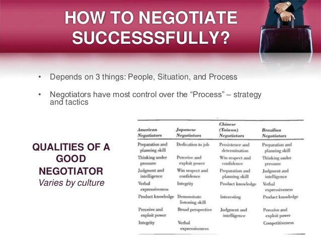 Who is a good negotiator