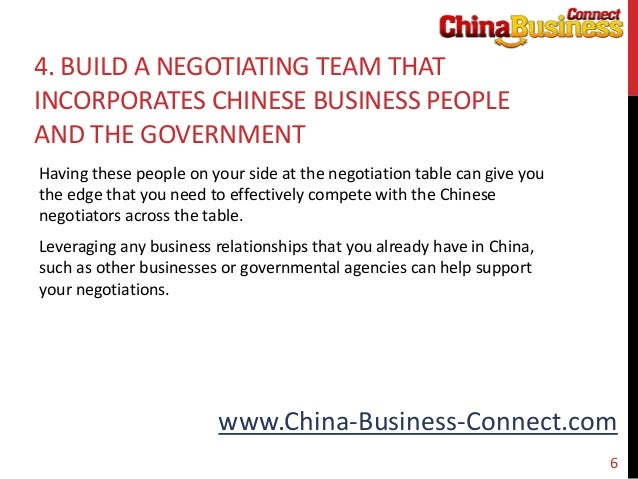 negotiating in china Negotiating with the chinese: a case study by cindy wolf china is the us' second largest trading partner, yet many americans are stymied when.