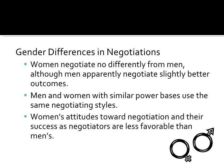 genderdifferences in negotiation If men negotiated a 2 percent raise each year and women accepted 1 percent,   interestingly, gender differences in bargaining often disappear.