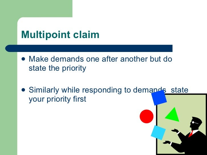 Multipoint claim <ul><li>Make demands one after another but do state the priority </li></ul><ul><li>Similarly while respon...
