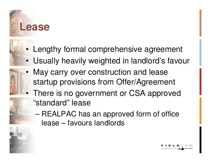 Negotiating The Commercial Lease Slides