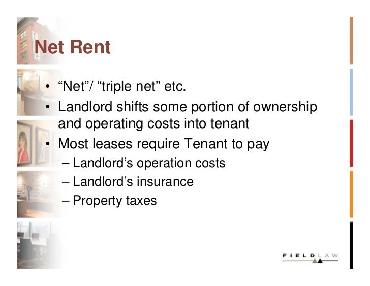taxes tenant should pay only rent and gst 17