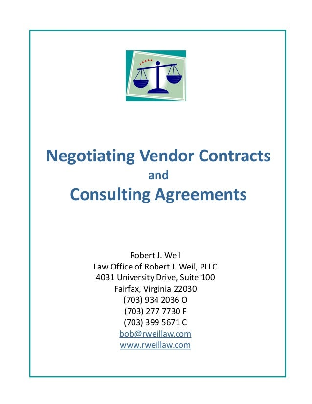 Negotiating vendor contracts – Vendors Contract Agreements