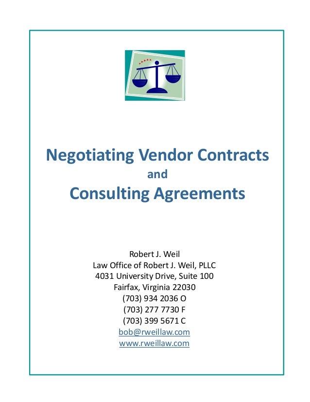 Negotiating Vendor Contracts
