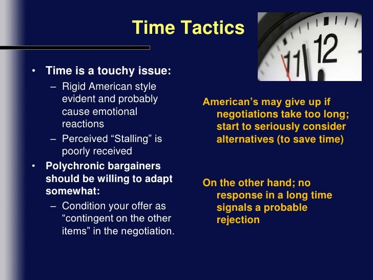 how americans view time sensitivity in negotiation context.