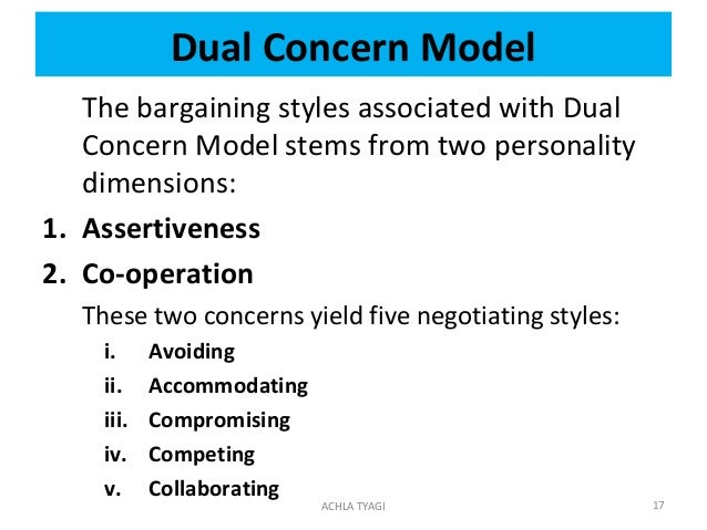Accommodating style of negotiation strategy