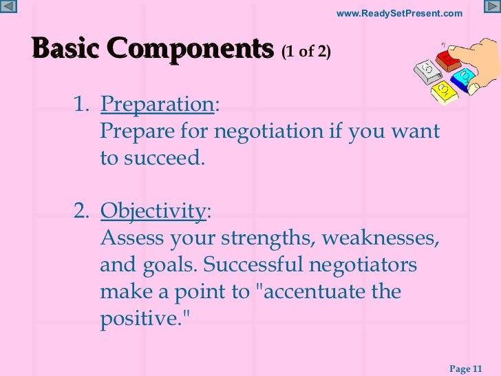 components of negotiation tactics