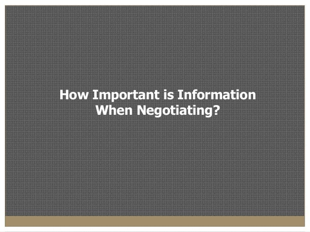 "the importance of negotiation What does the word ""negotiation"" mean do you think it creates a negative  atmosphere well, some people do, and the most common reason behind it is  that."