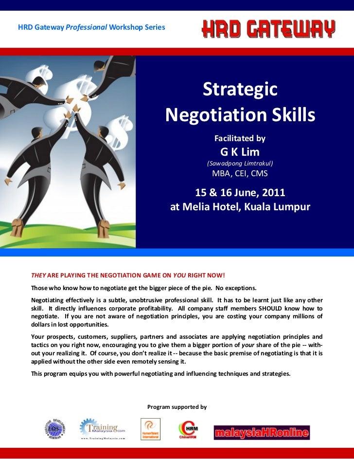 HRD Gateway Professional Workshop Series                                                         Strategic                ...