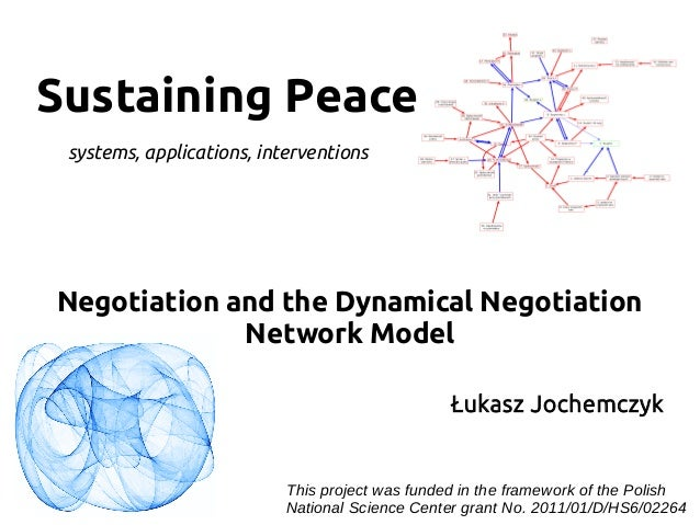 Sustaining Peace Negotiation and the Dynamical Negotiation Network Model systems, applications, interventions Łukasz Joche...