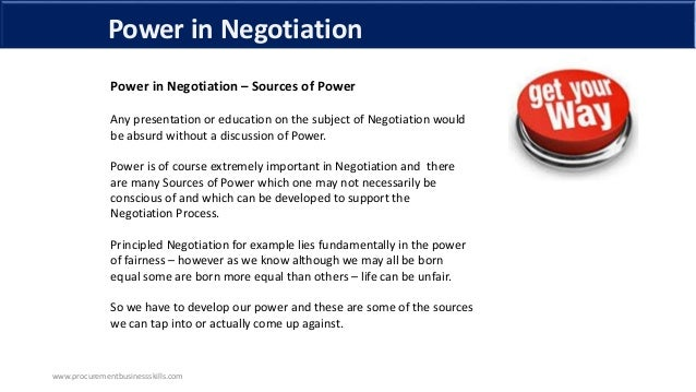 power in negotiation The power of listening | william ury  such as understanding the power of a human  cofounder of harvard's program on negotiation,.