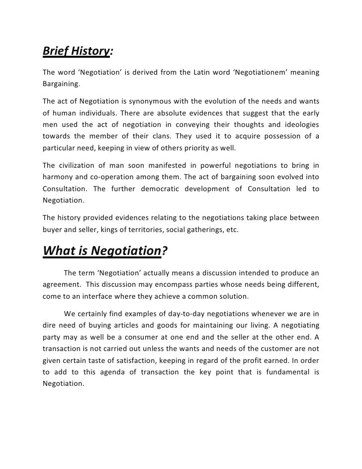 importance of negotiation in business pdf
