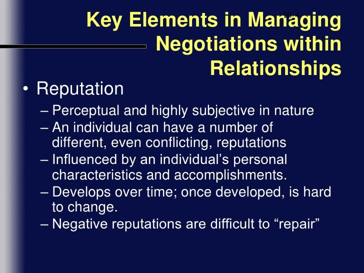 relationships negotiations in business Solving conflicts in your relationship: negotiation strategies required is much higher for couples than in business the sideroad is a blue boulder.
