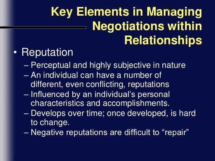 negotiation and relationship management unisim