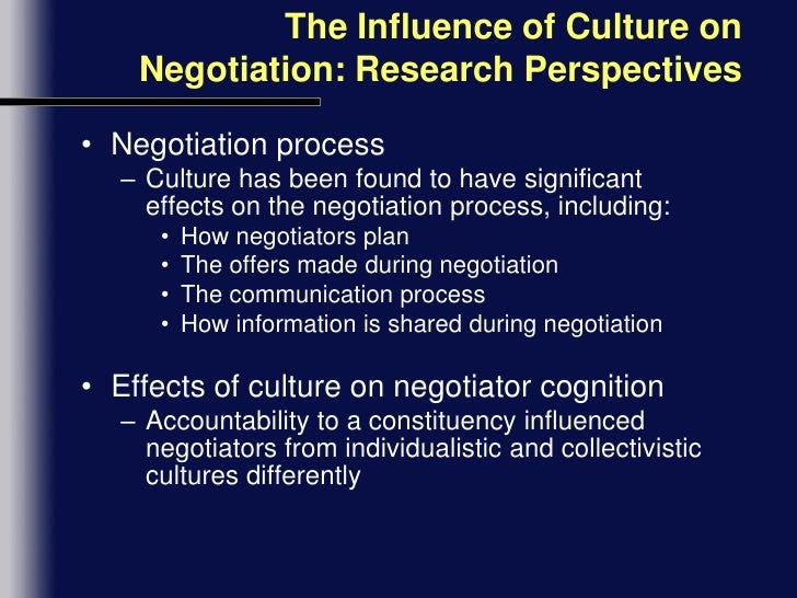 the pervasive impact of culture on international negotiations When enron was still – and only – a pipeline company, it lost a major contract in india because local authorities felt that it was pushing negotiations.