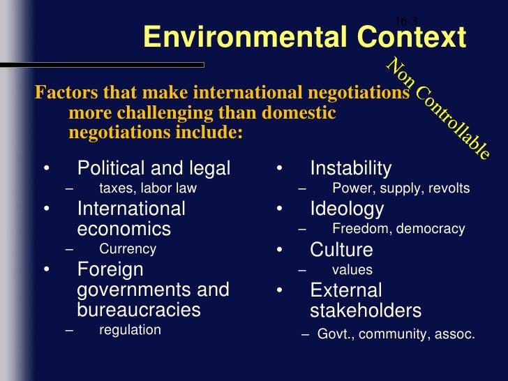 international negotiation culture  both sides had only limited experience with international negotiation, and both   history, and politics of the other culture prior to a negotiation.