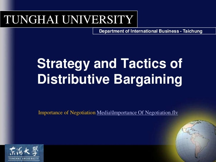 BARGAINING - Assignment Example