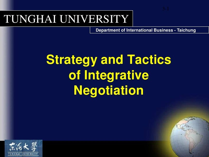 3-1<br />Strategy and Tactics of Integrative Negotiation<br />