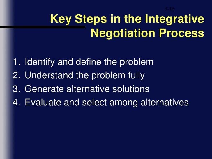 chapter 3 integrative negotiation After the background for negotiation in section 2, we present the general protocol  for suppliers' selection in section 3  a traditional way to make tractable  integrative negotiation involves primarily characterizing the.
