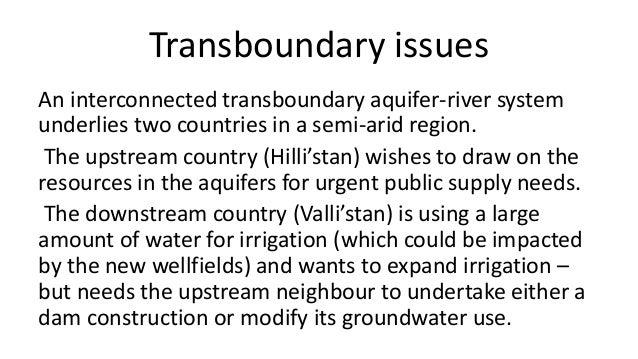 Game based simulation of negotiations over transboundary river-aquifer system Slide 2